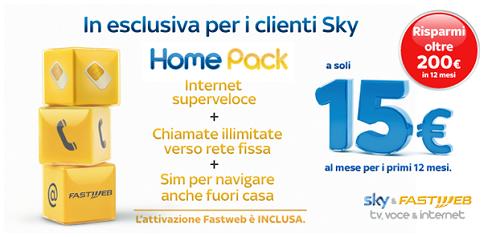 homepack sky + fastweb