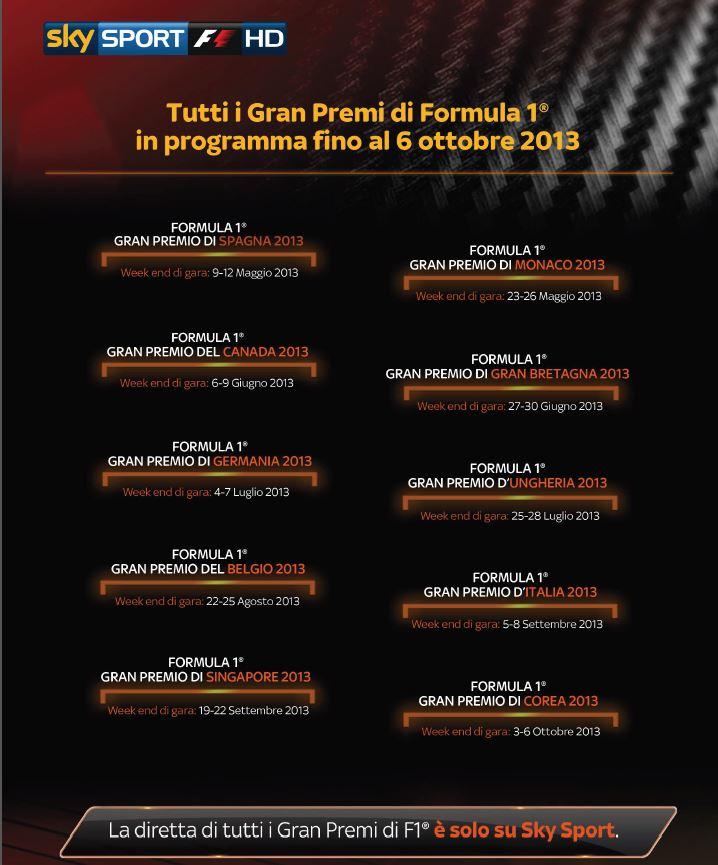calendario completo F1