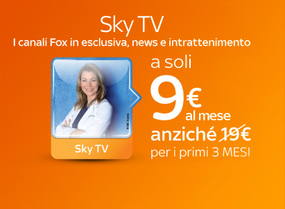 sky 9 euro per tre mesi