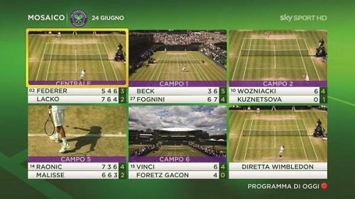 Sky Sport - Wimbledon 2013 - Mosaico