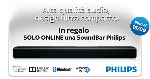 soundbar philips in regalo con sky