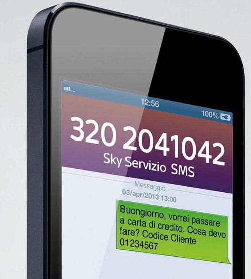 Contattare Sky via SMS