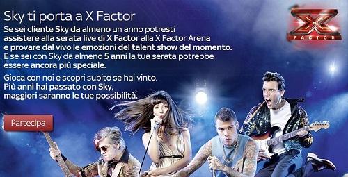 Sky ti fa assistere dal vivo ad X Factor