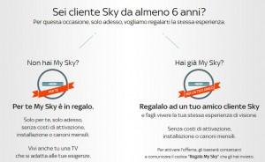 Come avere MySky HD in regalo