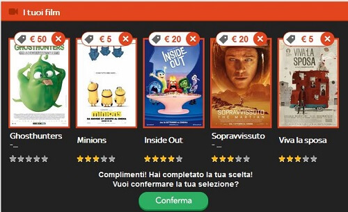 la mia scelta cinema BOX OFFICE