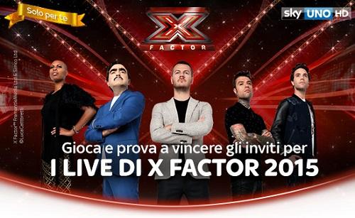 ingresso live a Xfactor