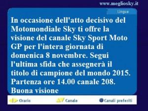 Sky Sport MotoGP aperto a tutti gli abbonati per la rimonta di Valentino