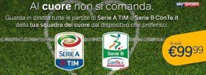 Abbonamento calcio a 99 euro con NowTV(sky in streaming)