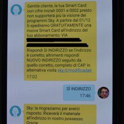 cambio smart card SKY
