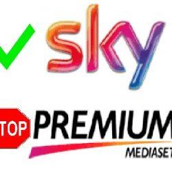 mediaset premium stop calcio