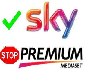 Calcio solo su Sky: come fare recesso da Mediaset Premium