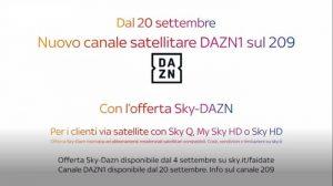 Partite DAZN sul canale 209 di Sky