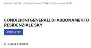 Disdetta contratto: conta la data di ricezione di Sky, non la data di invio