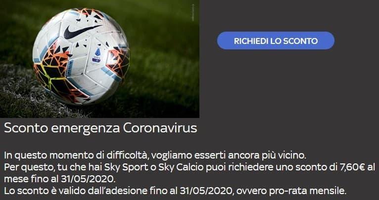 Sconto Sky Sport e Sky Calcio