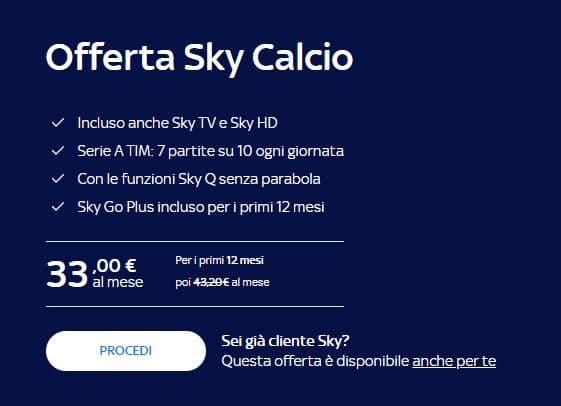 abbonamento Sky Calcio